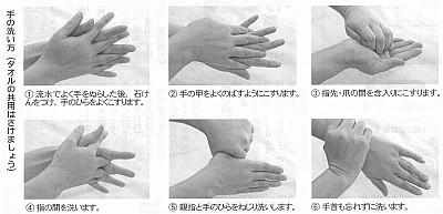手の洗い方